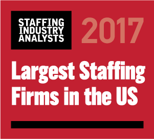 Best Staffing Firm to work for 2017